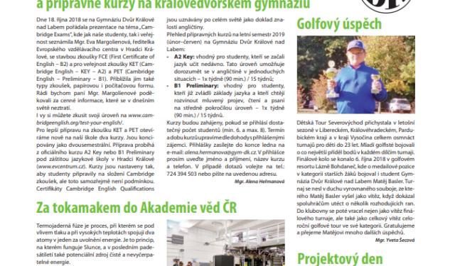 GDK na stránkách Novin královédvorské radnice