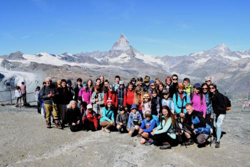 Pohled z Gornergratu na Matterhorn